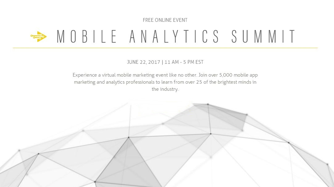 Mobile Analytics Summit – um evento online para o Mobile Marketing!