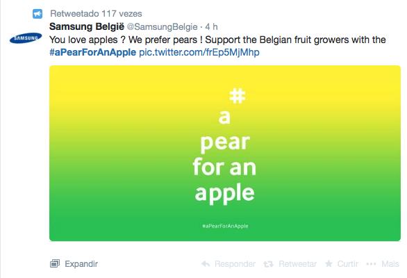 Samsung 'rouba' o grande dia da Apple com… pêras da Bélgica!