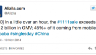 Alibaba faz 1000 milhões de dólares em 17 minutos e 45% desse valor via utilizadores mobile